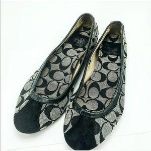 🖤Coach flats ! Black grey !